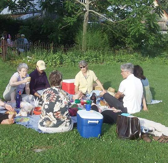 Picnic on the Lawn before a show